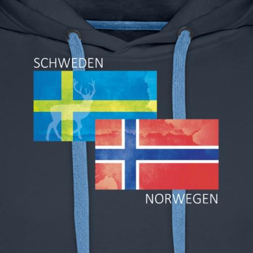 Norwegen & Schweden - Männer Premium Hoodie