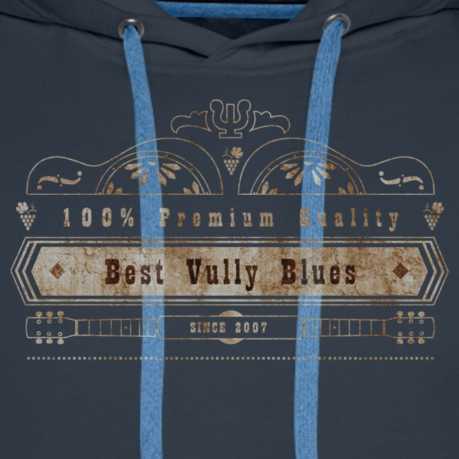 Dobro Best Vintage Vully Blues Rust auf Schwarz
