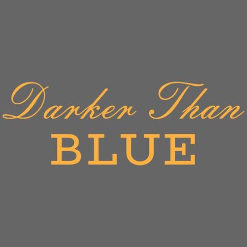 Scritta Darker Than Blue Musica Hipo Hop Soul - Felpa con cappuccio premium da uomo