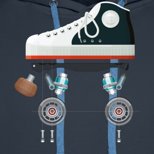 Rollerskates scherm - Sweat-shirt à capuche Premium pour hommes