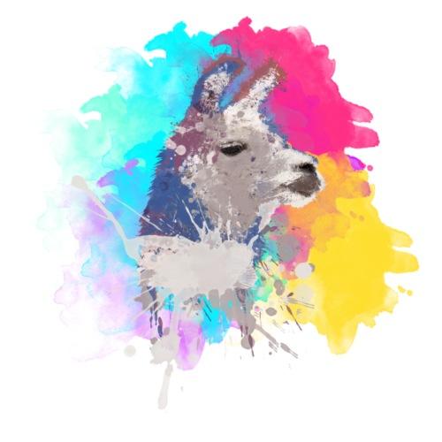 Colorful Llama - Herre Premium hættetrøje