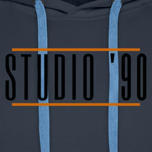 Logo zwart Studio 90 - Mannen Premium hoodie