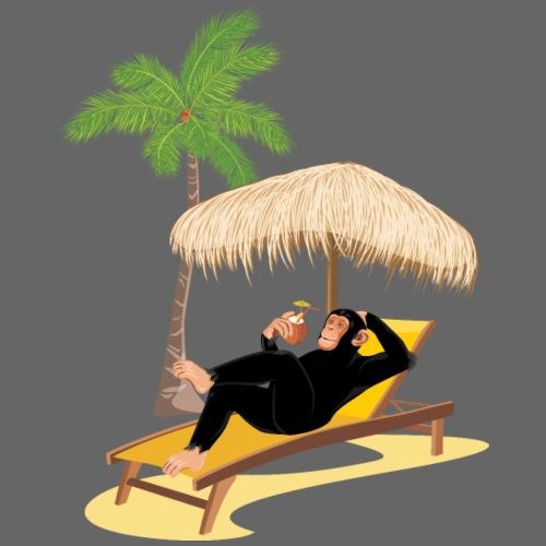Affe am Strand - Männer Premium Hoodie