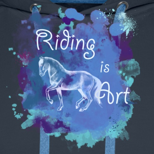 RidingArt Blue Splash - Männer Premium Hoodie