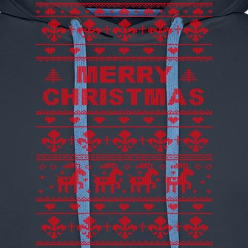 Ugly Sweater Merry Christmas - Männer Premium Hoodie