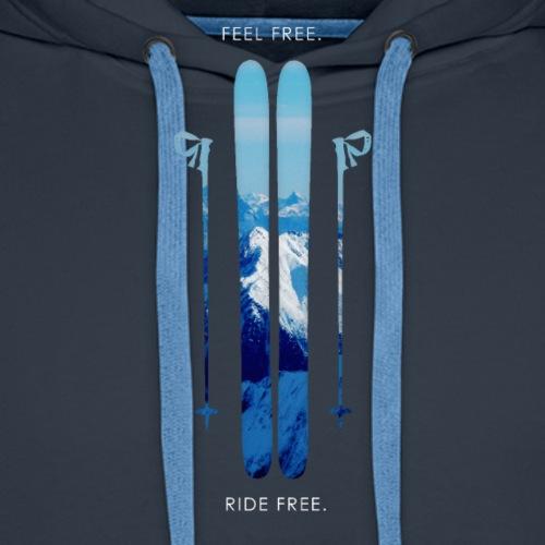 Freeski - White - Männer Premium Hoodie