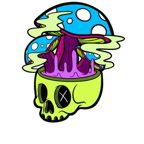 Mushroom Skull - Sudadera con capucha premium para hombre