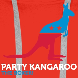 Political Party Animals: Kangaroo - Men's Premium Hoodie