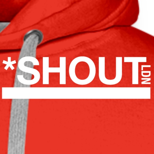 Shout LDN White - Men's Premium Hoodie