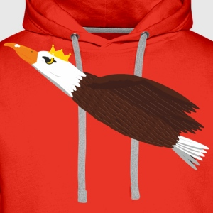 Flying eagle in the crown - Men's Premium Hoodie