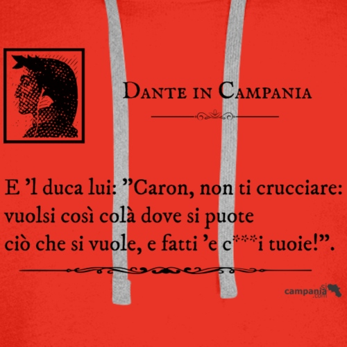 1,06 Dante Vuolsi Cosi - Felpa con cappuccio premium da uomo