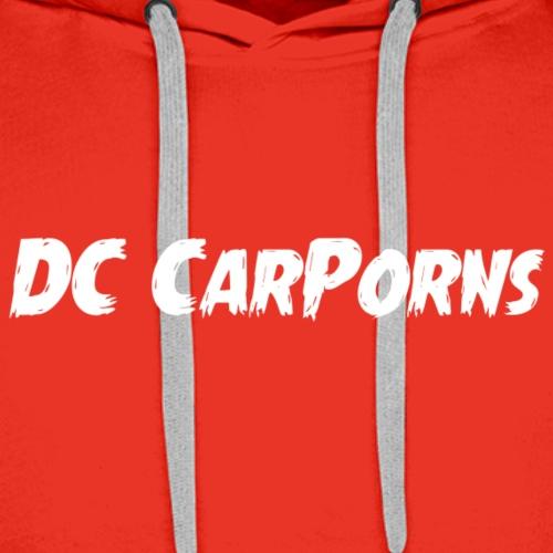 DC CarPorns Logo weiß Brust - Männer Premium Hoodie