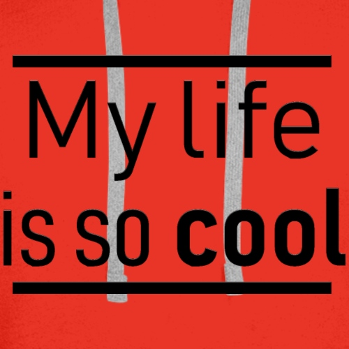 My life is so cool - Sweat-shirt à capuche Premium pour hommes