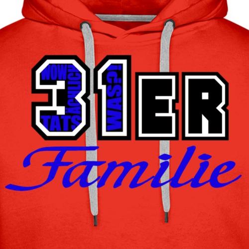 Blau 31ER Familie - Männer Premium Hoodie