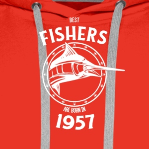Present for fishers born in 1957 - Männer Premium Hoodie