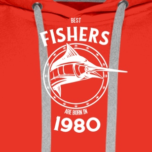 Present for fishers born in 1980 - Men's Premium Hoodie