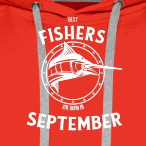 Present for fishers born in September - Men's Premium Hoodie