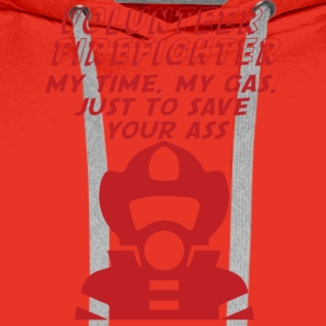 Fire Department: Fire Fighters - is all about ass-busting - Men's Premium Hoodie