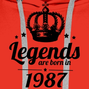 Legends 1987 - Sweat-shirt à capuche Premium pour hommes