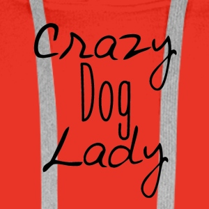 Crazy dog ​​Lady - Men's Premium Hoodie