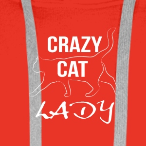 crazy cat lady white - Männer Premium Hoodie