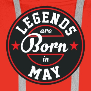 Legends may born birthday gift birth - Men's Premium Hoodie