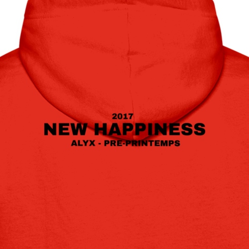 Alyx - new happiness black letters - Mannen Premium hoodie