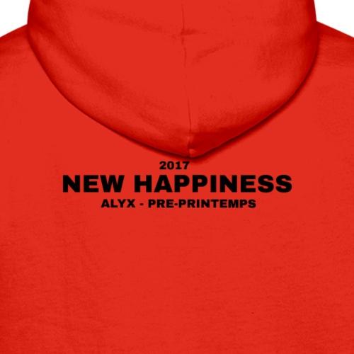Alyx - new happiness black letters - Mannen Premium hoodie