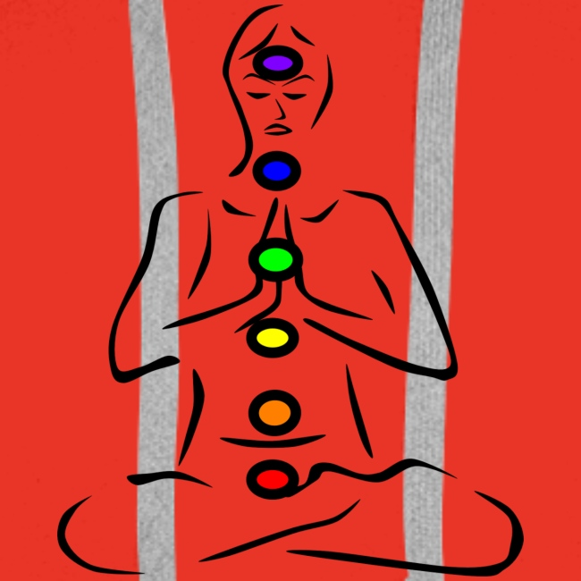 Illustrated Chakras Spirituel Yoga Print Design