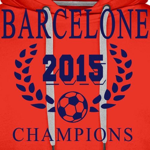 Barcelone Champions 2015 - Sweat-shirt à capuche Premium pour hommes
