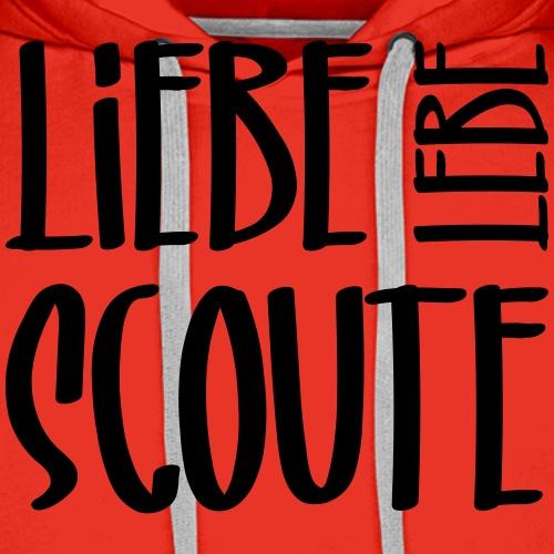 Liebe Lebe Scoute Typo - Farbe frei wählbar - Männer Premium Hoodie