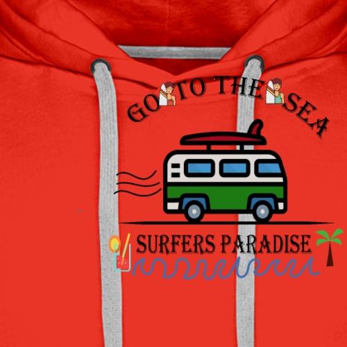 Surf - Sweat-shirt à capuche Premium pour hommes