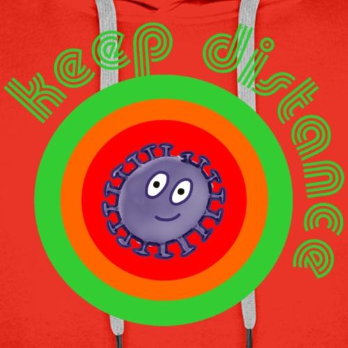 Halte Abstand - keep distance - Coronavirus - Männer Premium Hoodie