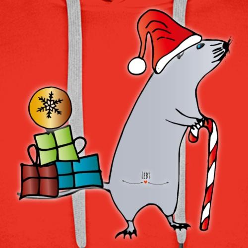 Weihnachtsmaus - Männer Premium Hoodie