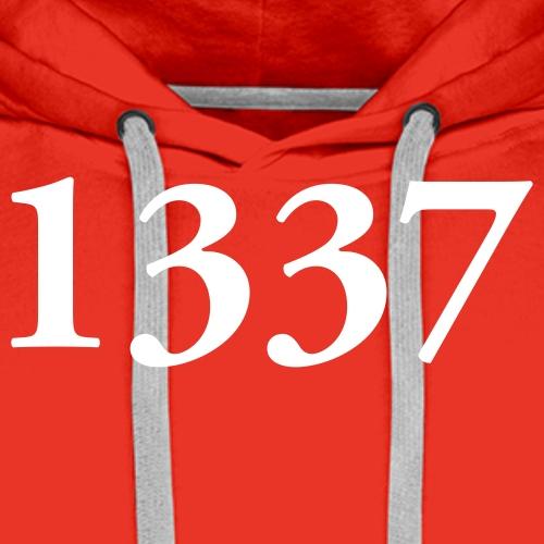 geek 1337 - Felpa con cappuccio premium da uomo
