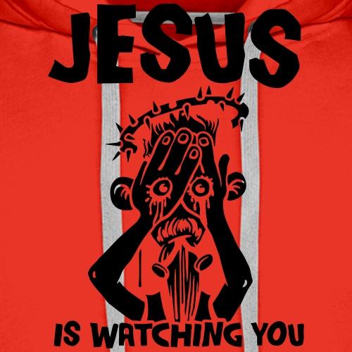 Jesus ist watching you - Männer Premium Hoodie