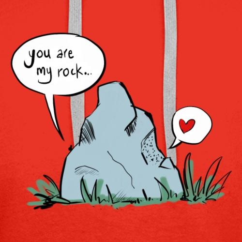 Relazione d'amore Regalo di anniversario: My Rock - Felpa con cappuccio premium da uomo