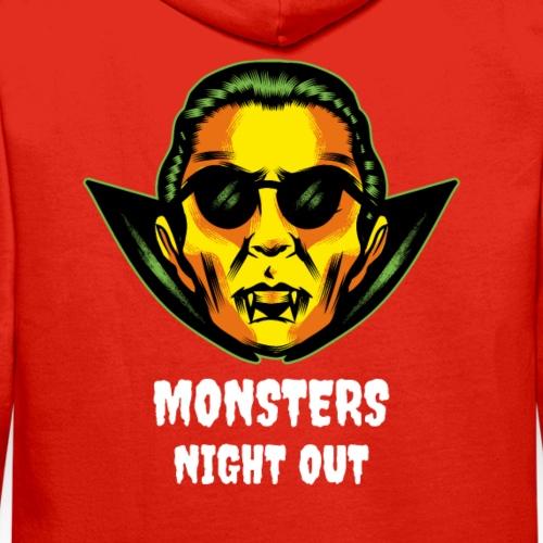 Drácula Retro Halloween | Night Out Neón - Sudadera con capucha premium para hombre