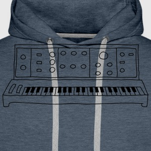 analog synthesizer - Men's Premium Hoodie