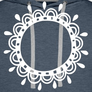 Wreath, frame, decoration, your text, template - Men's Premium Hoodie