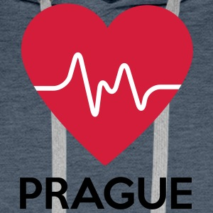 heart Prague - Men's Premium Hoodie