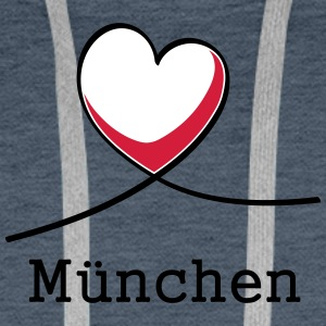 I love Munich! - Sweat-shirt à capuche Premium pour hommes