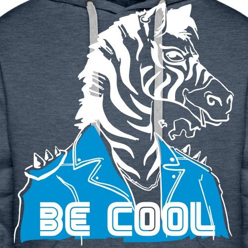 Cool Zebra - Sweat-shirt à capuche Premium pour hommes