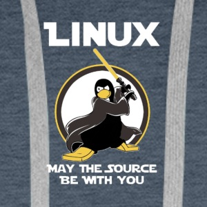may_the_linux_source - Mannen Premium hoodie