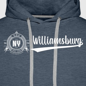 New York · Williamsburg - Premium hettegenser for menn