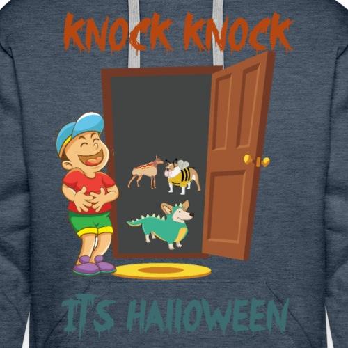 Knock Knock it's Halloween T-Shirt - Men's Premium Hoodie