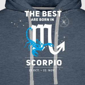 scorpion October astrology horoscope birthday bo - Men's Premium Hoodie