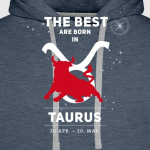 taurus bull zodiac horoscope signs astrology - Men's Premium Hoodie