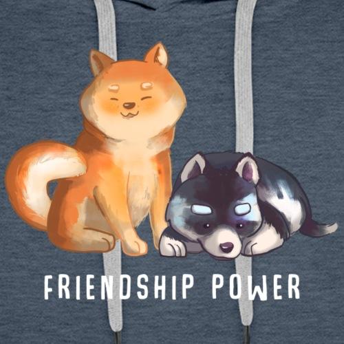 Shiba et Husky - Sweat-shirt à capuche Premium pour hommes