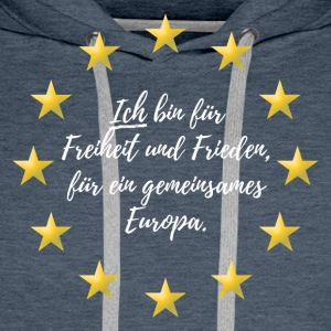 Europa Fred Freedom - Premium hettegenser for menn
